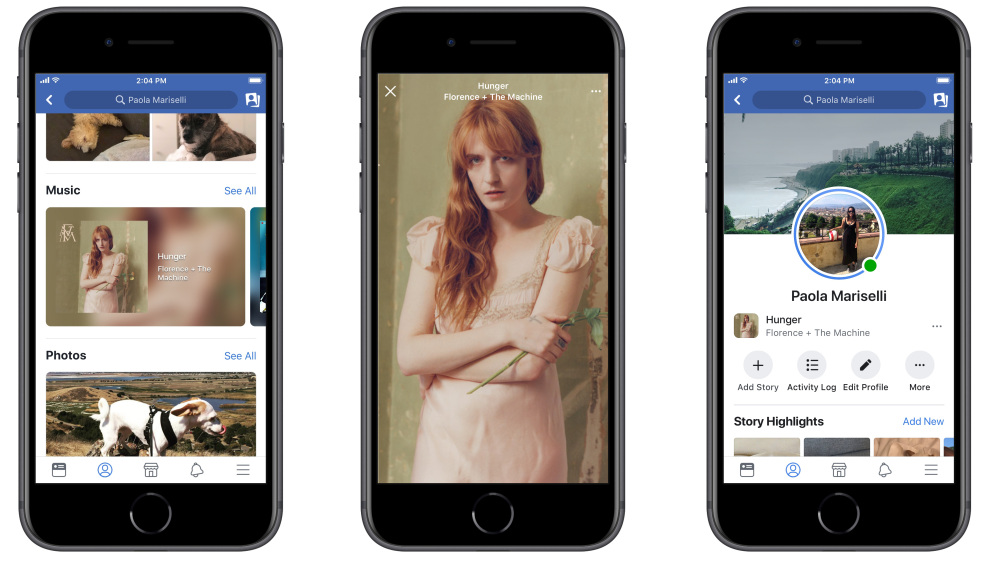 facebook music features and new live lip sync tools