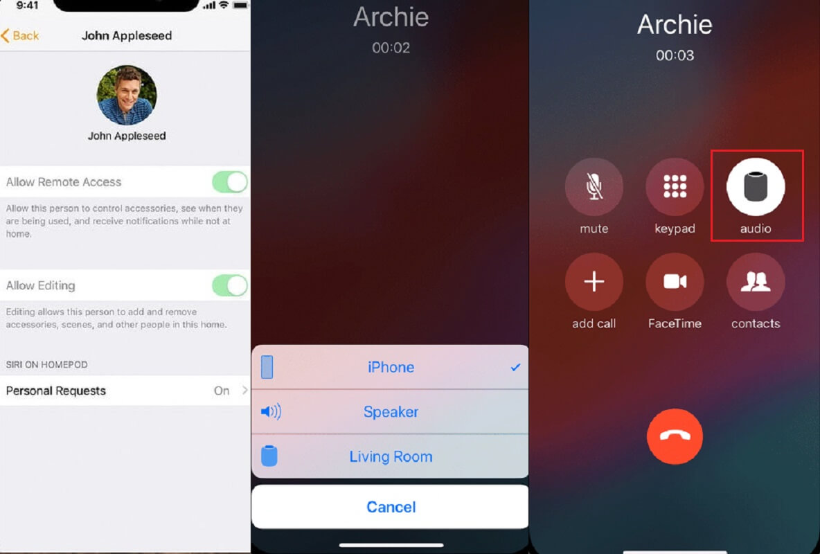 how to make calls with apple homepod