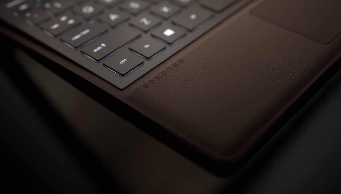 hp spectre leather laptop