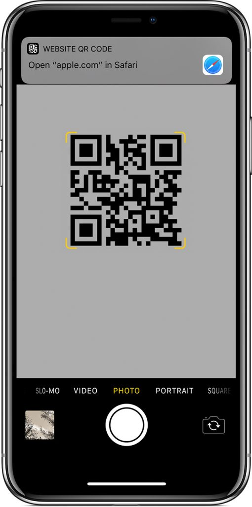 how to use qr codes apple