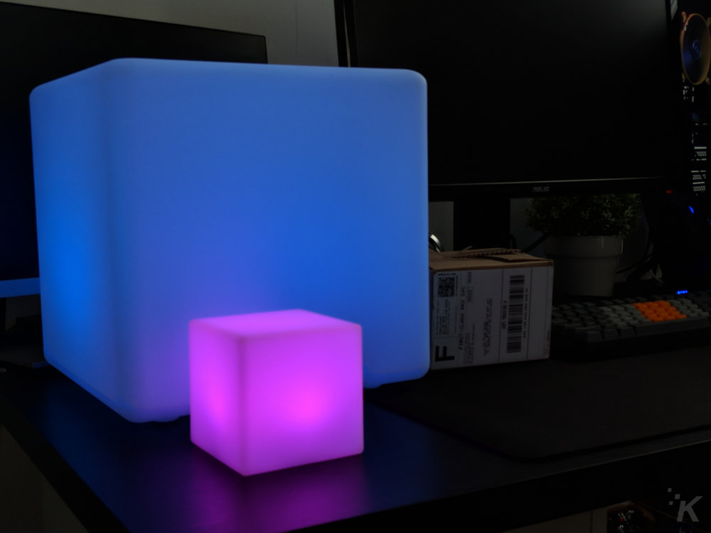 loftek led cube lamp