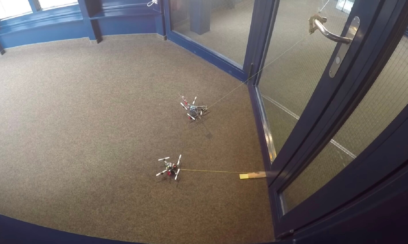 wasp drones open doors