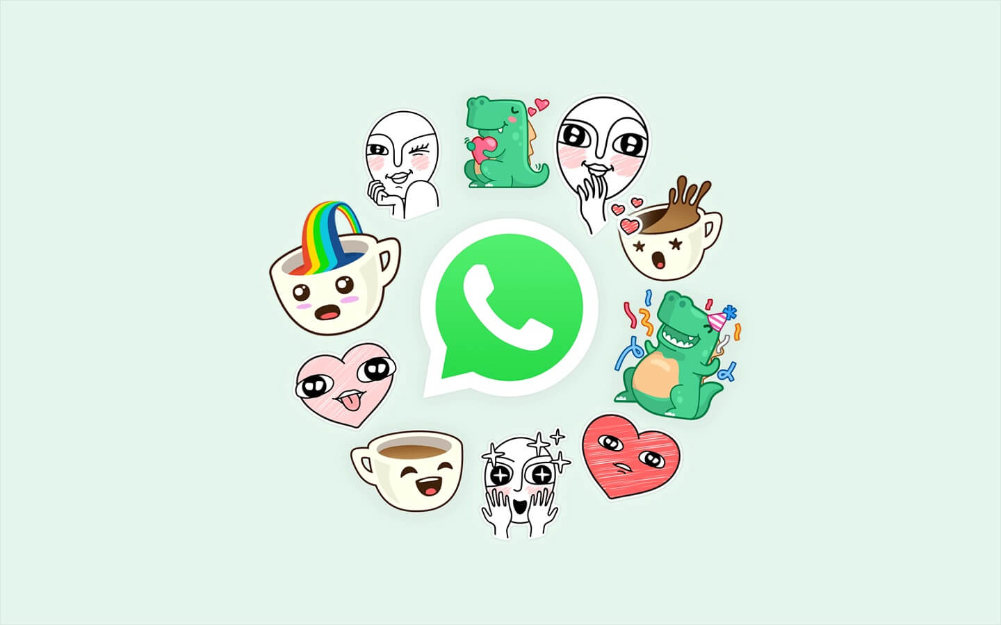 whatsapp adds stickers to service