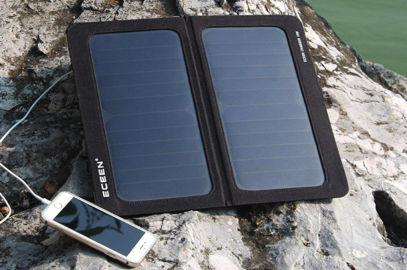 13w foldable solar charger tech gift ideas