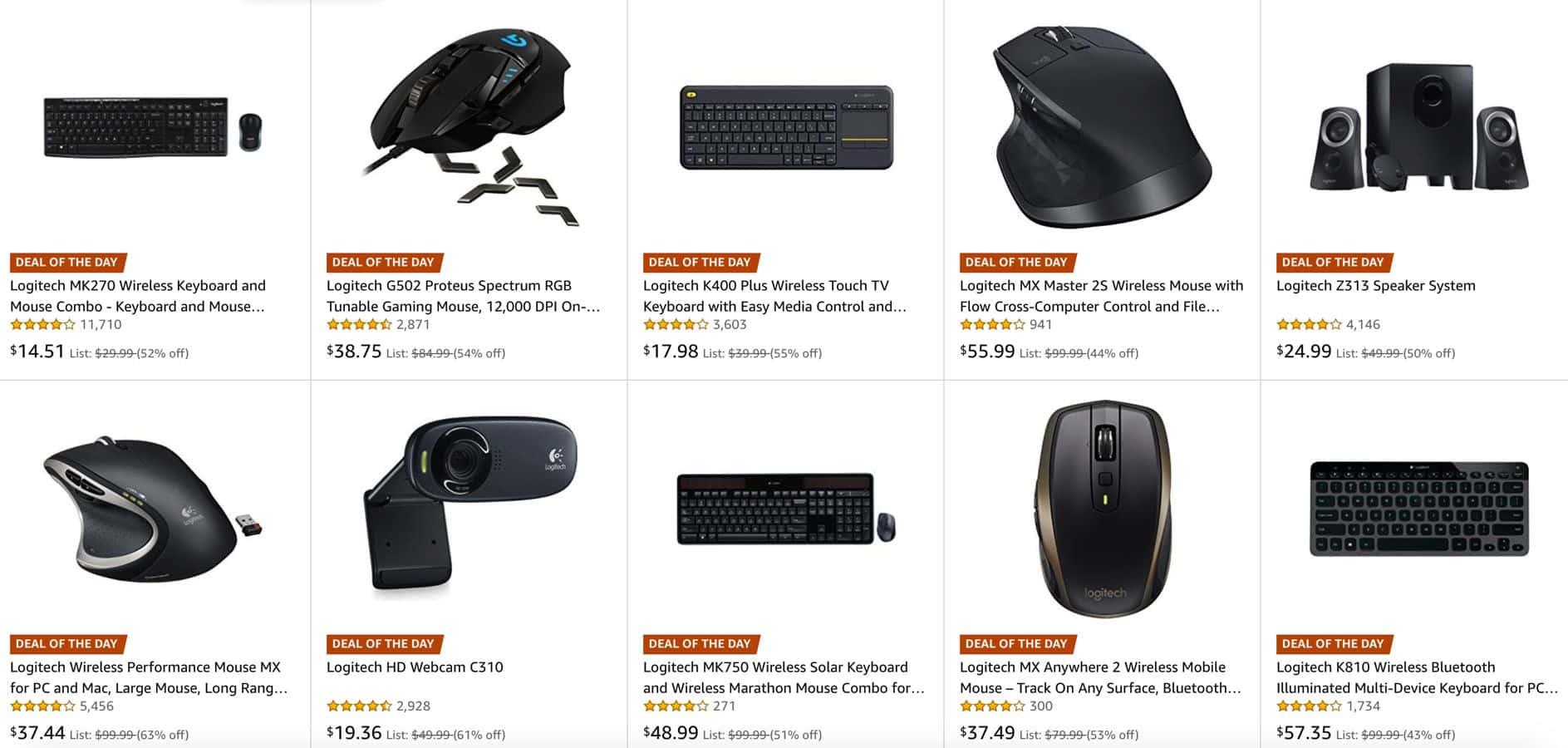 logitech one day sale amazon
