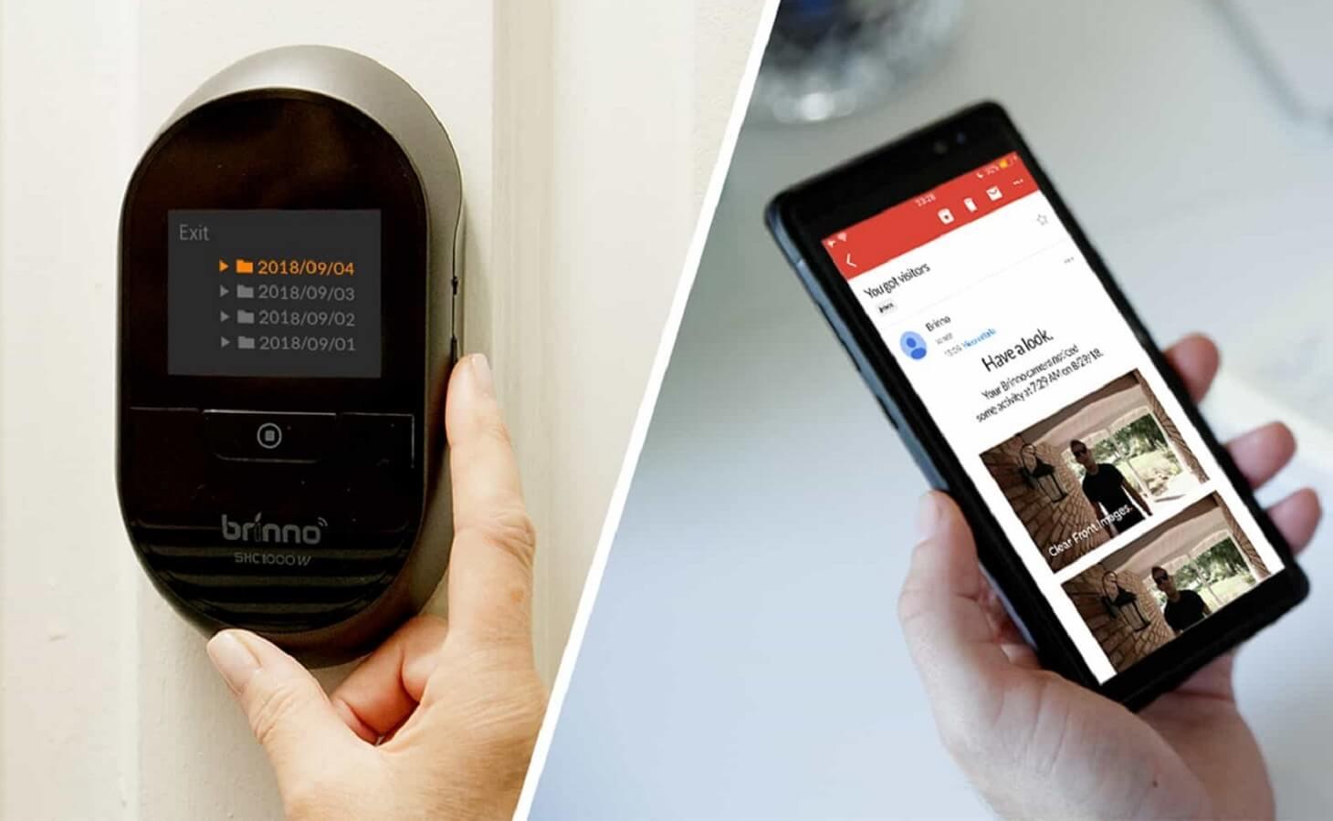 brinno duo smart peephole camera