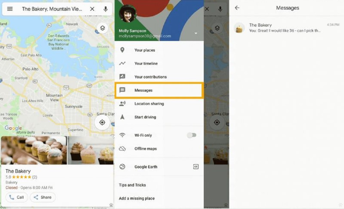 google maps business messaging update