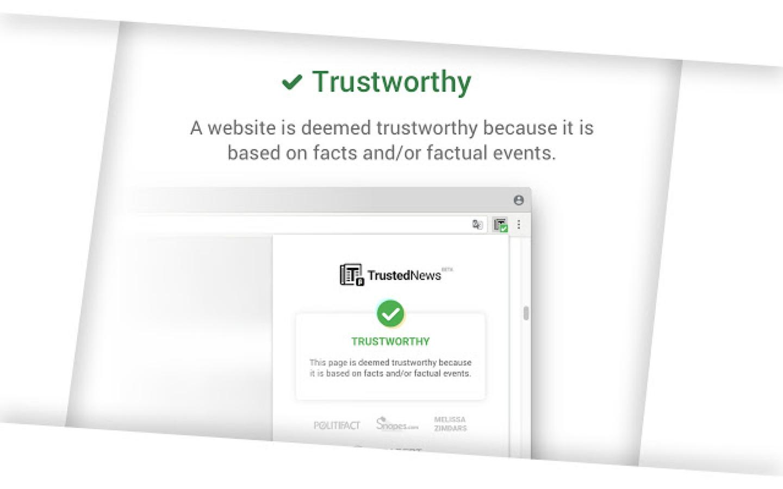 trustednews fake news google chrome extension