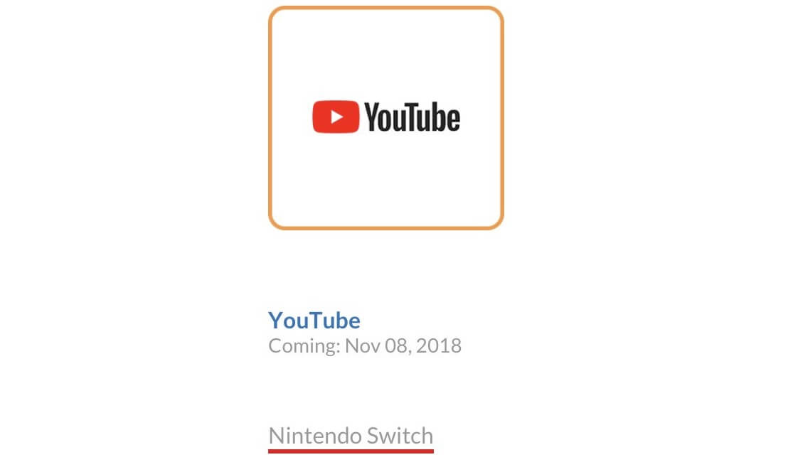 youtube app nintendo switch