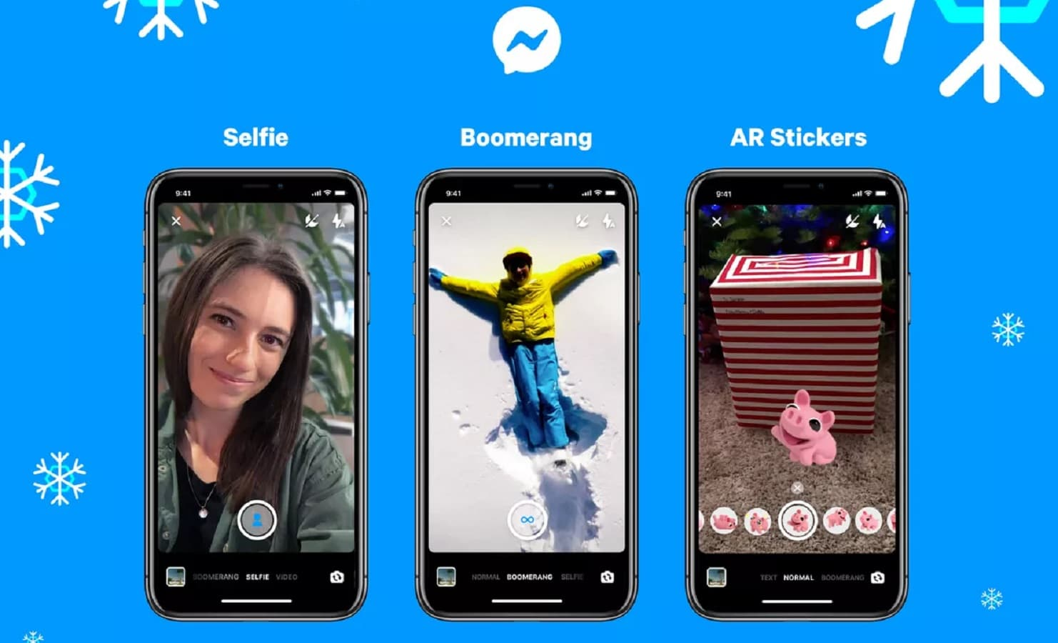 new facebook messenger features include selfie mode