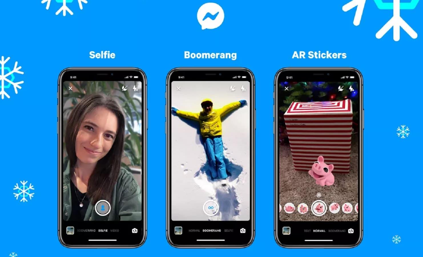 new facebook messenger features include selfie mode