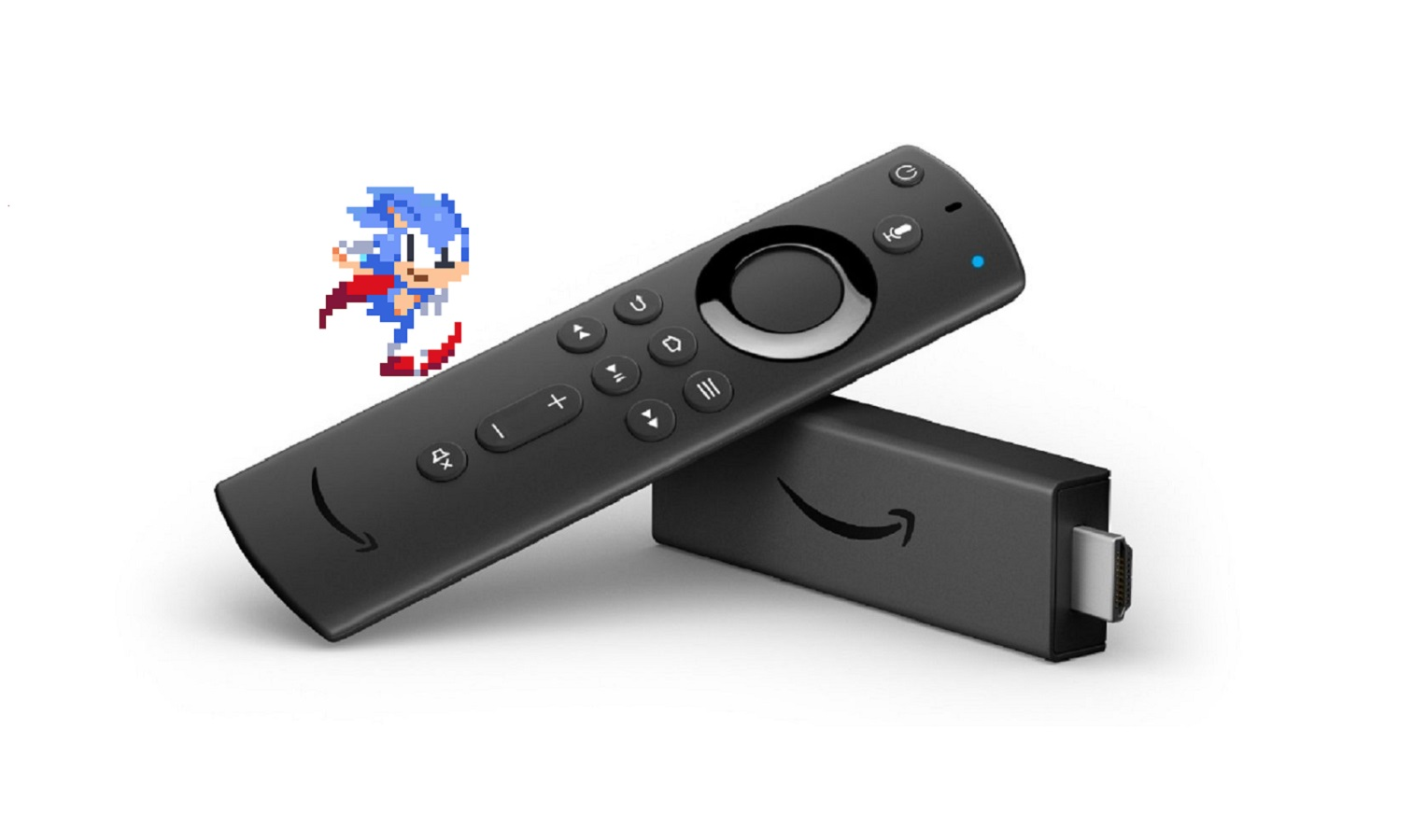 fire tv stick with sonic the hedgehog running
