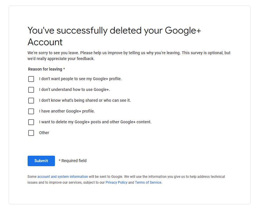 how to delete google plus