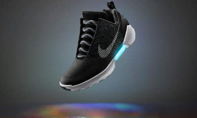 nike's self-tying hyperadabt shoe in black