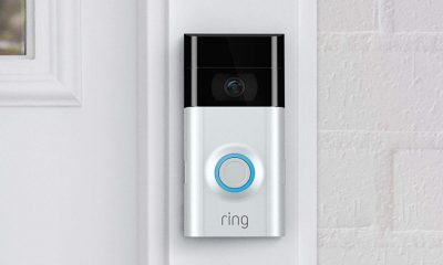 ring doorbell on white wall