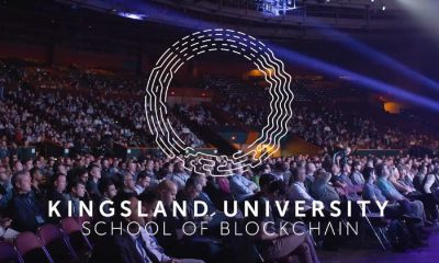 kingsland university blockchain courses with people in the background