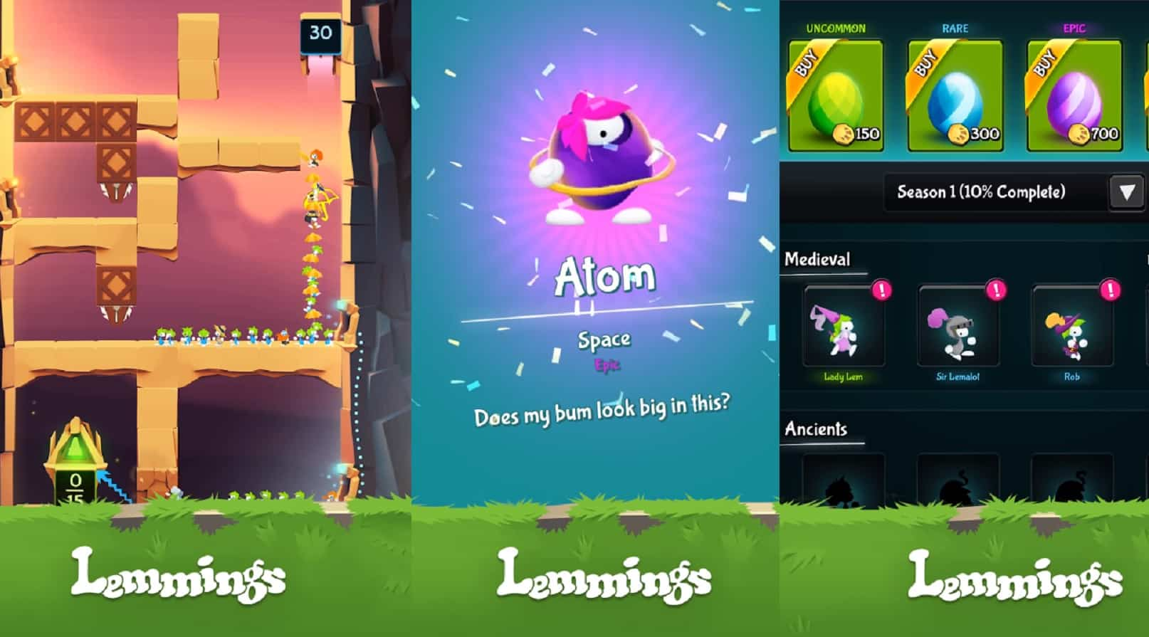 lemmings game screenshots on ios and android