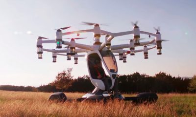 lift drone in field