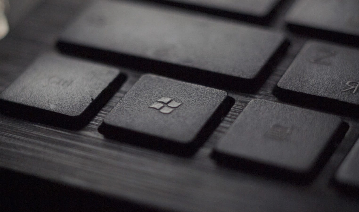 microsoft logo found on black keyboard
