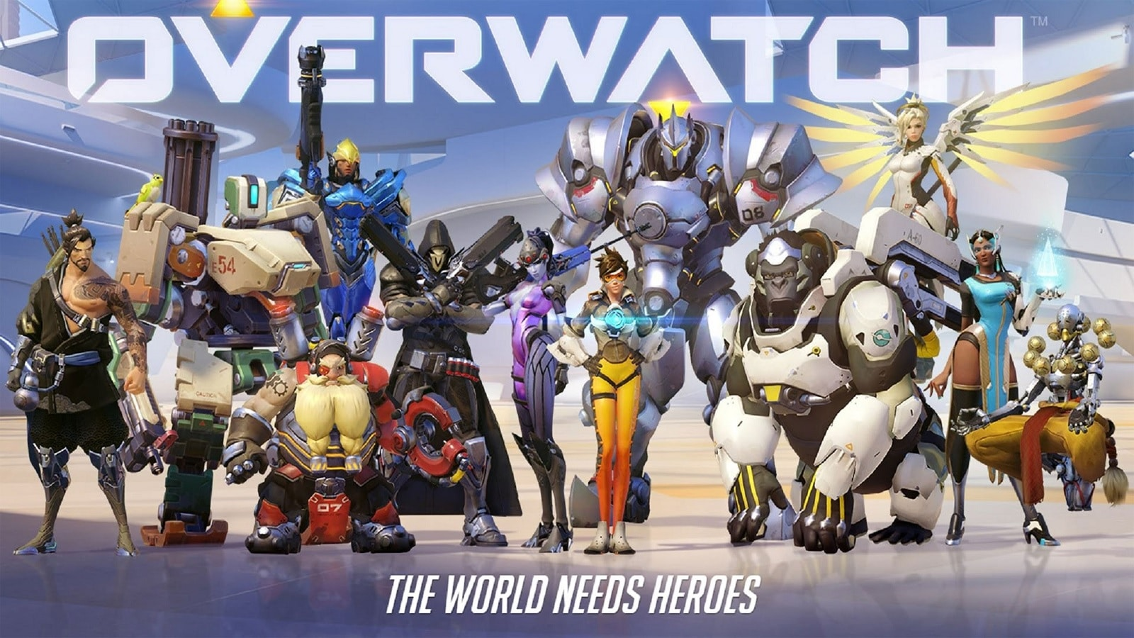overwatch characters against light background
