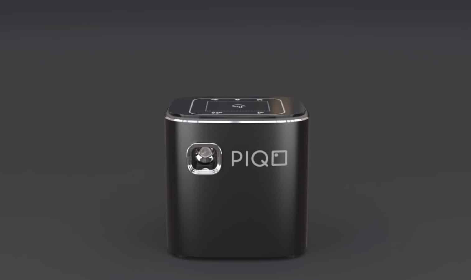 piqo projector on grey background
