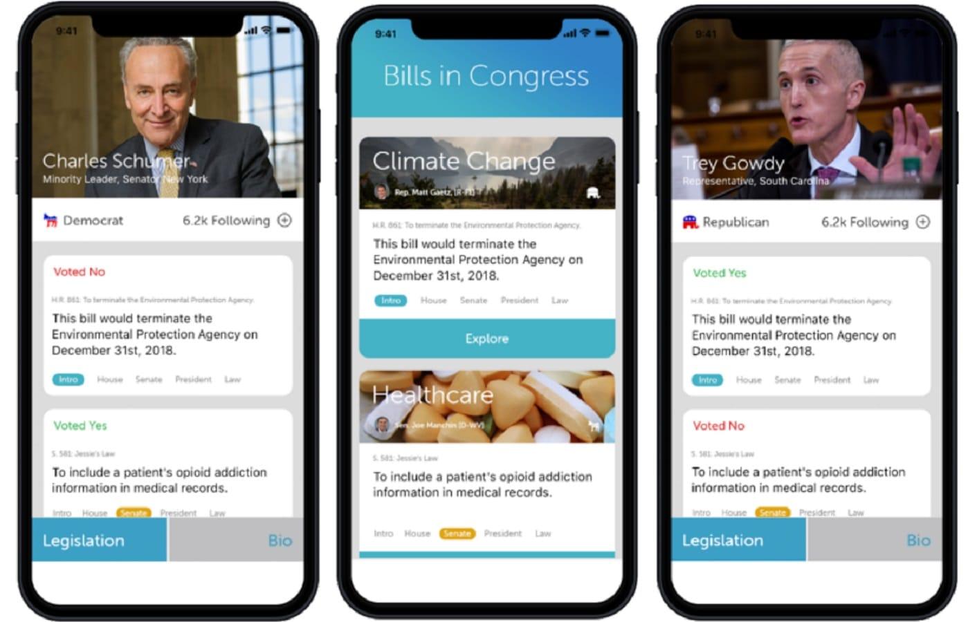 politiscope app screenshots