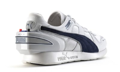 puma shoes on white background