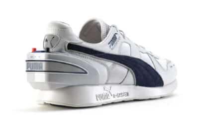 puma shoes on white background
