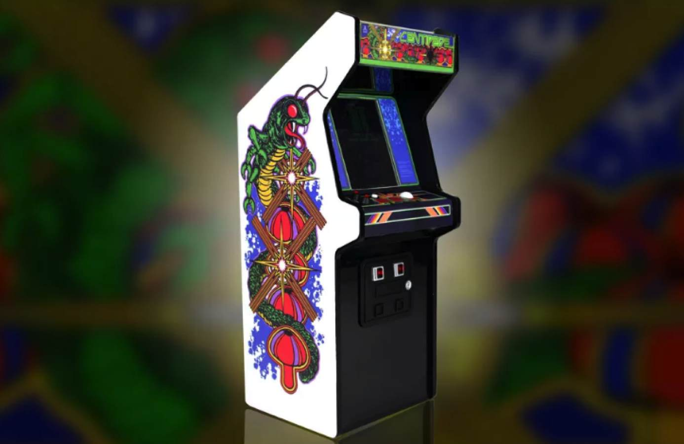replicade new wave toys centipede arcade cabinet