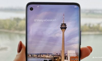 a mockup of the upcoming samsung galaxy s10 smartphone
