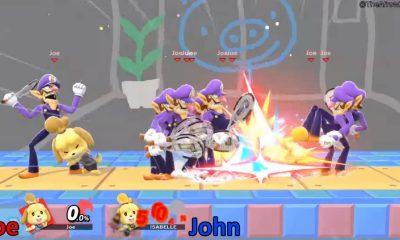 super smash bros ultimate characters with waluigi