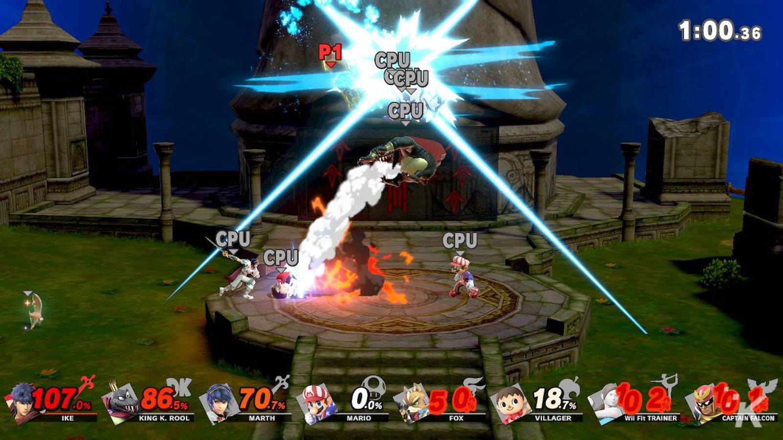super smash bros ultimate characters fighting on screen