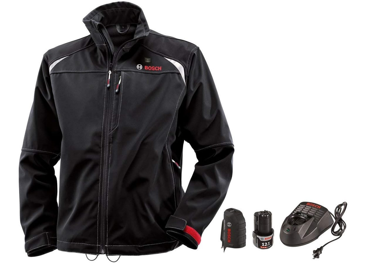 a black jacket with usb capabilities