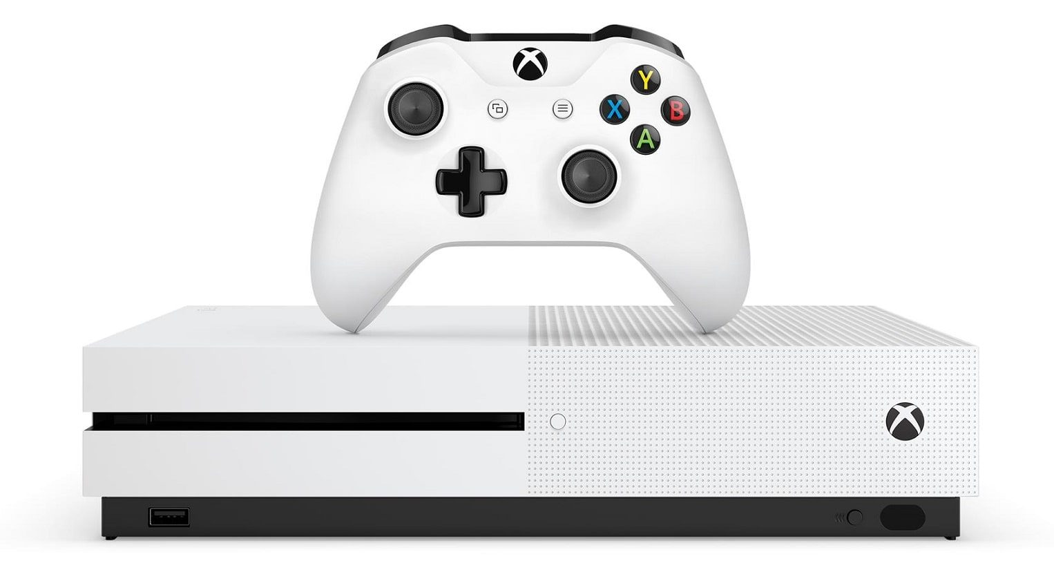 xbox one x against a white background
