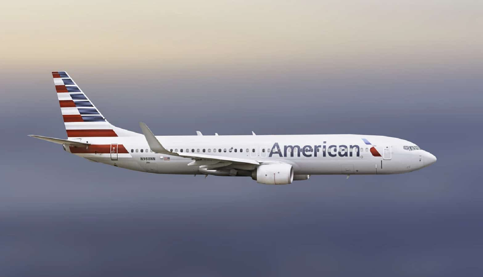 american airlines plane in air