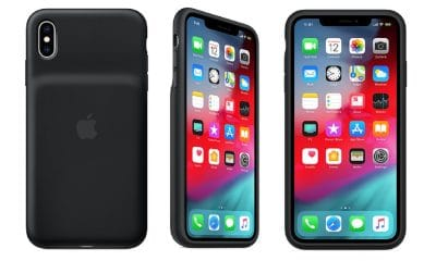 apple iphone charging case showing all three sides