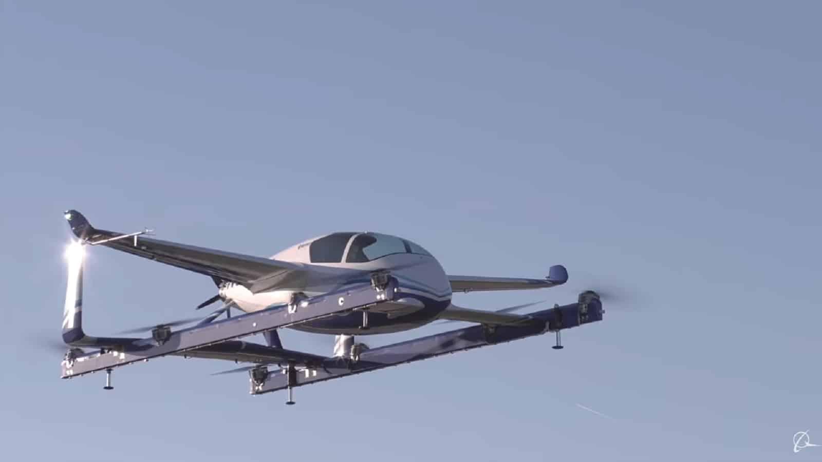 boeing self-flying vehicle in air