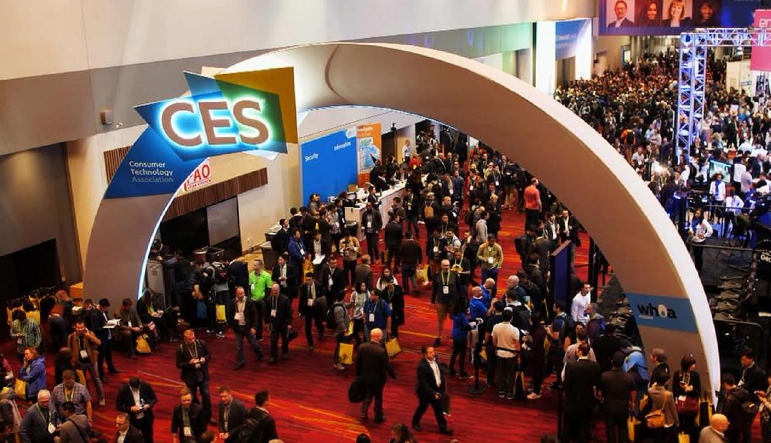 ces 2019 event with people entering the building