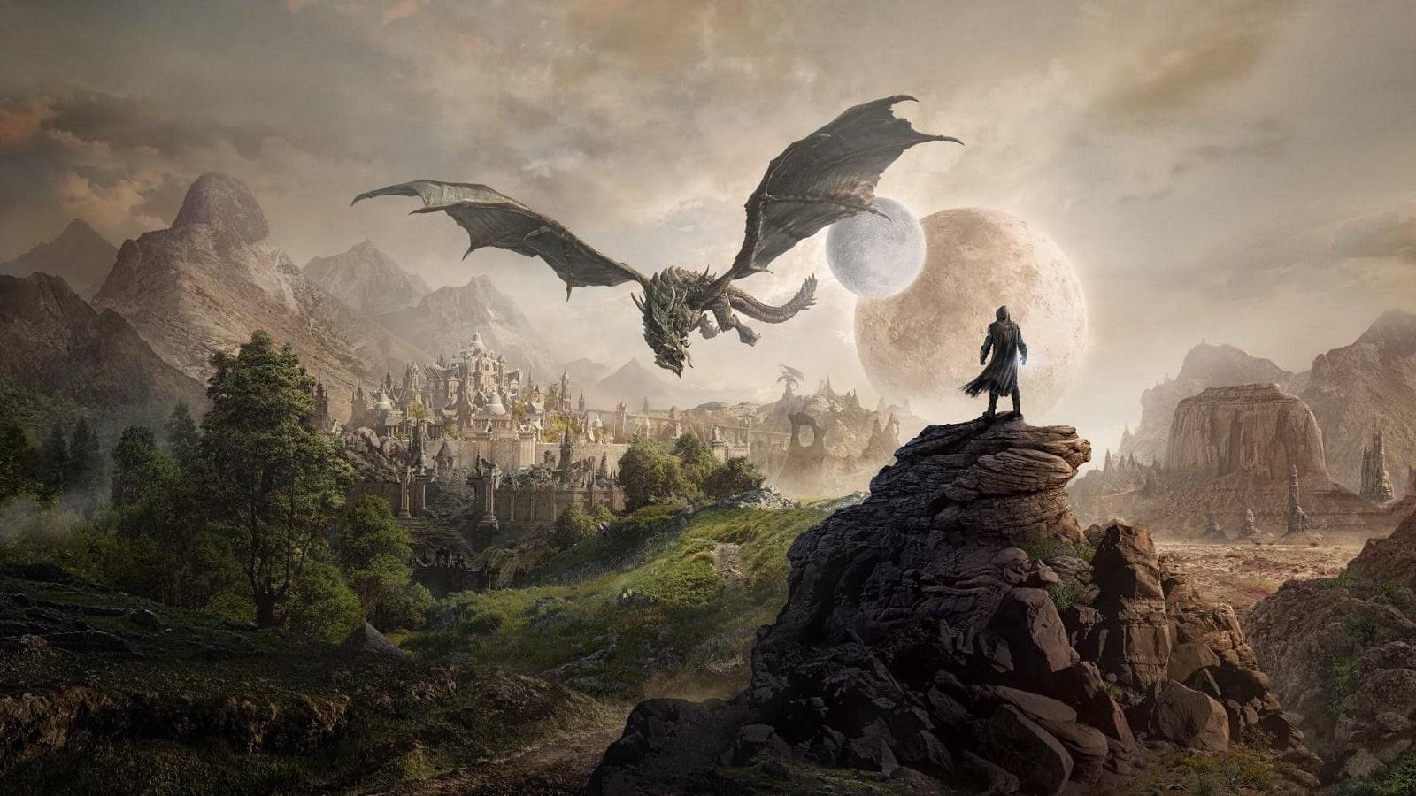 elder scrolls online elseweyr expansion with dragons