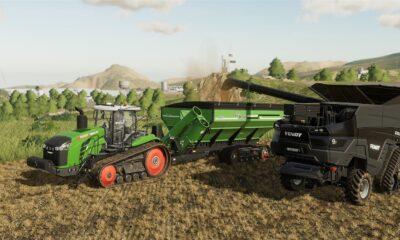 farming simulator 19 in action