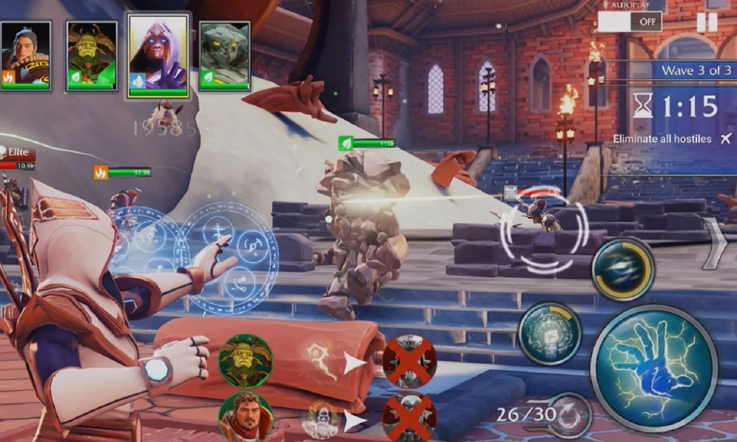 forged fantasy gameplay on ios and android