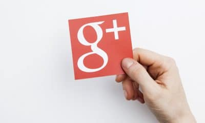 google plus logo on paper