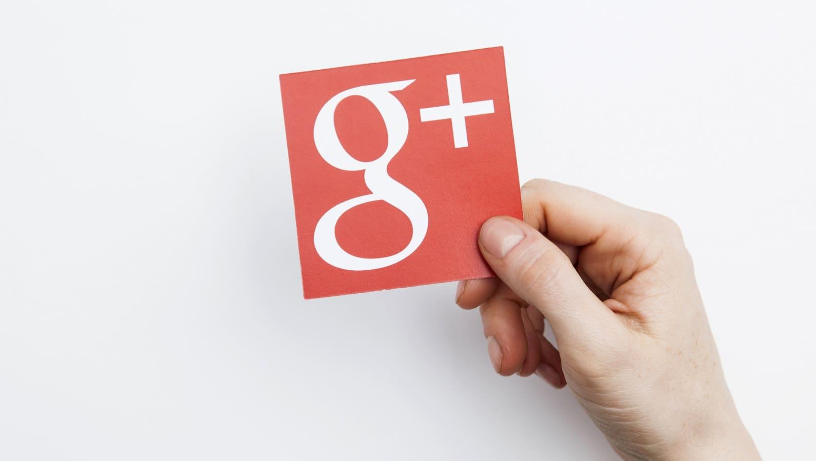 google plus logo on paper