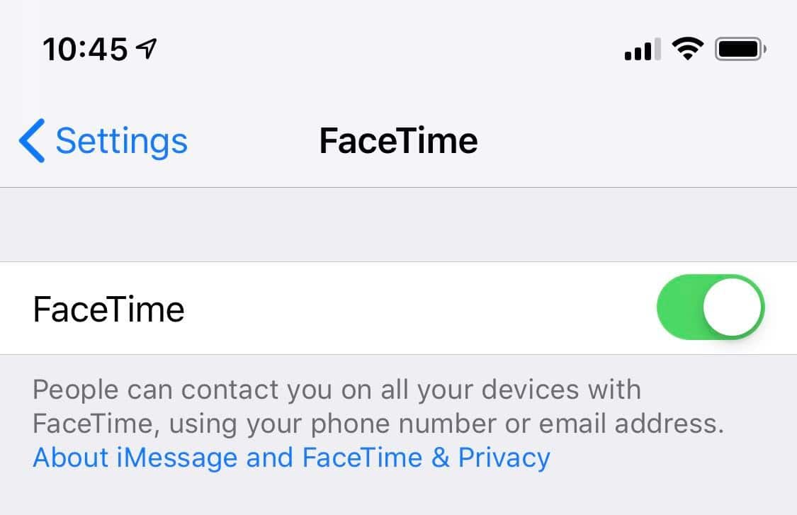 how to disable facetime on ios