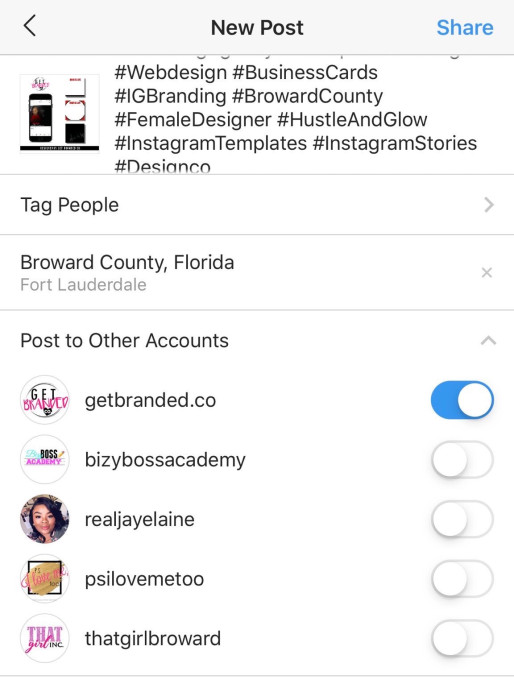 instagram repost feature for multiple accounts
