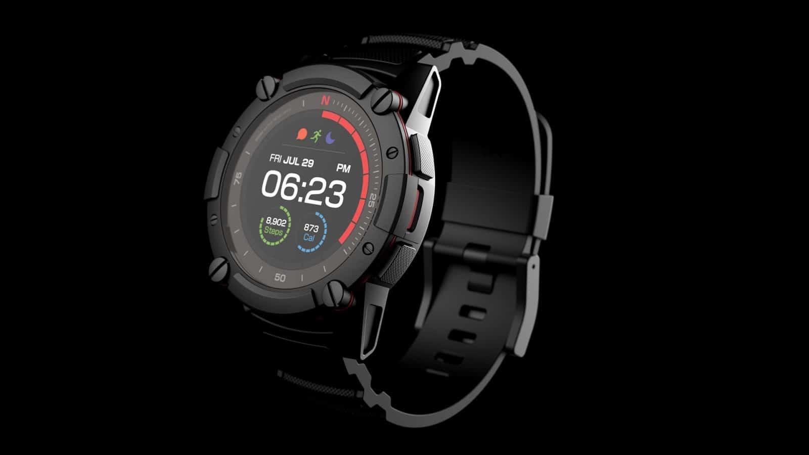 matrix industries powerwatch 2 on black background