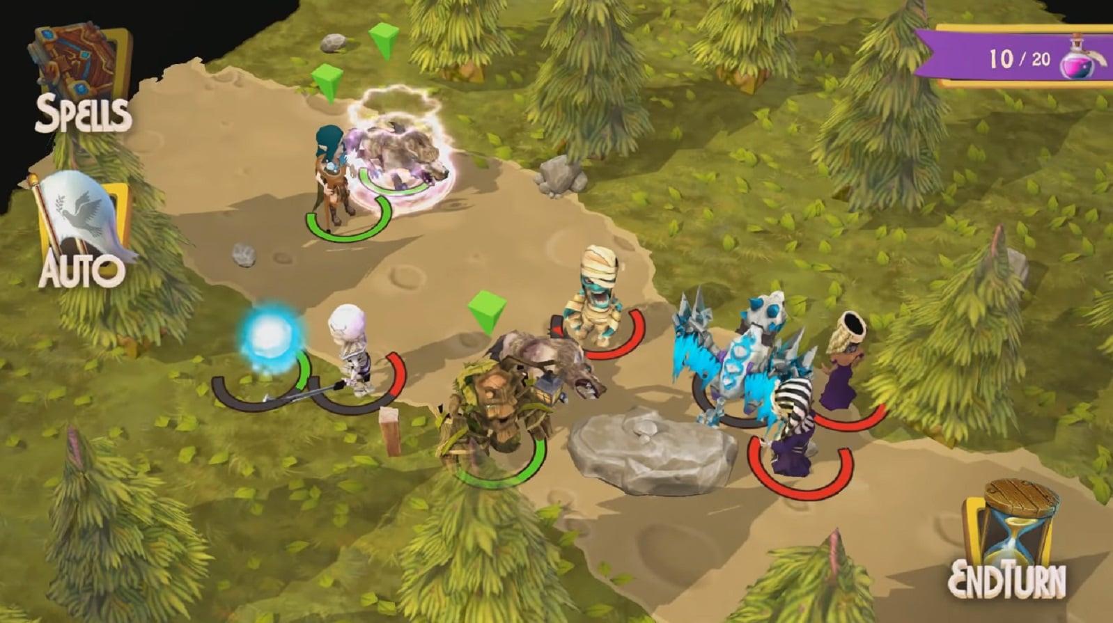 mobile games including heroes of flatlandia gameplay