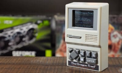 oregon trail handheld on table