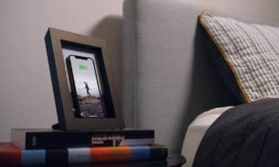 powerpic charging stand on nightstand