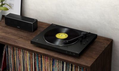 sony's new turntable announced at ces 2019 on wooden table